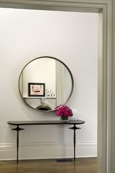 art work reflected in mirror -   West Village Townhouse - contemporary - spaces - new york - David Howell Design