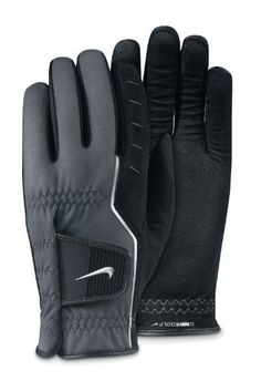 """NIKE All Weather Cadet Pair Golf Gloves, X-Small by Nike. $18.95. Nike GG0339-001-L Nike All Weather Cadet Pair gloves are made with synthetic microfiber in the palm to give you uncompromising grip when most others are scurrying back to the clubhouse. New """"synthetic flexibility"""" in the index finger and thumb combined with spandex material in the fingers, provides a superior range of motion, flexibility and breathability. They feature an angled tab design that provides superior..."""