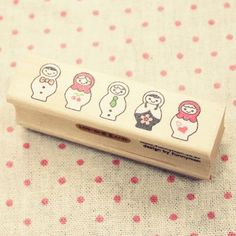 Cute Matryoshka Wooden Rubber Stamp. $5.50, via Etsy.