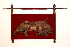 Witco Tiki Vintage Mid Century Mediterranean Bull Wall Sculpture Art | eBay