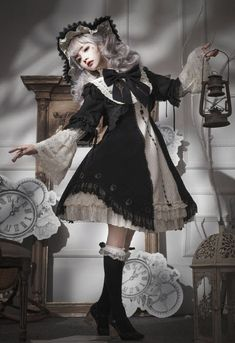 Reminder: There're still 3 Lost Tree 【-Die Zeithexe-】 Lolita Jumper Dresses Available for Preorder! Reminder: There're still 3 Lost Tree 【-Die Zeithexe-】 Lolita Jumper Dresses Available for Preorder! ◆ Shopping Link >>> www. Steampunk Lolita, Mode Steampunk, Gothic Lolita Fashion, Lolita Style, Steampunk Clothing, Fashion Goth, Steampunk Fashion, Estilo Lolita, Harajuku Fashion