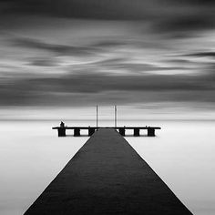 Michael Levin, Zebrato, 2005 / 2009 © www.lumas.com/ #LumasBlack and white,  black-and-white,  cloud,  Clouds,  Horizon,  Jetties,  Jetty,  longtime exposure,  longtime exposures,  meditative,  Ocean,  Oceans,  Photography,  Sea,  Seas,  Sky,  symmetric,  Symmetry,  Water