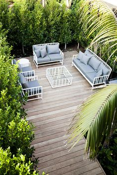 aerial view of some very nice garden furniture | Adam Christopher coffee tables