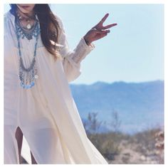 Drippy Crochet Inset maxi styled by mskeeks on FP me. #freepeople #fpme
