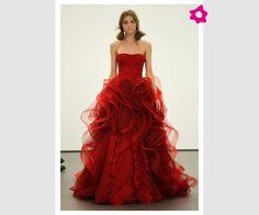 Los vestidos de novia rojo de Vera Wang 2013