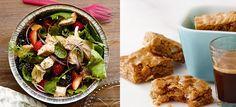 Confira duas receitas do Vigilantes do Peso para o Dia das Mães. Salada de Frango com Frutas Vermelhas e Brownie do Chocolates Branco com Coco | BH Mulher