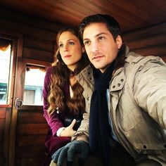 Getting direction.... @daniellissing #WhenCallsTheHeart photo cred: @jennmakeupdesign