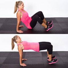 Tabletop Hip Dip - Triple Threat Workout: Tone Your Belly, Butt, & Thighs! Yay, more workouts:)