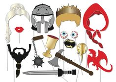 Halloween Printable Games >> Printable Game of Thrones inspired Photo Booth Props