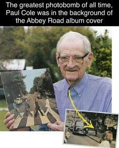 The greatest photo bomb of all time Paul Cole and the background of the abbey road cover Fun facts
