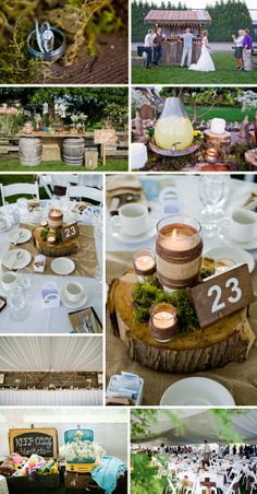 These are my favorite centerpiece - the logs :)