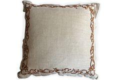 VSI Embroidered Linen Pillow I on OneKingsLane.com