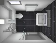 1000 images about badkamer on pinterest met modern toilet and toilets for Plan kleine badkamer