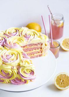 Lemonade Cake Food & Style Emma Iivanainen, Painted By Cakes Photo Emma Iivanainen www.maku.fi