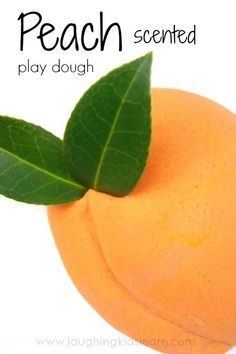 How to make peach scented play dough for kids