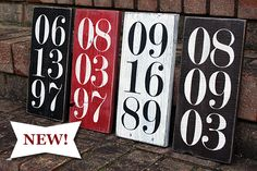 New! Special Date Painted Wood Sign