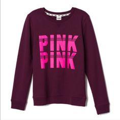 XS PINK Varsity Crew Nwt PINK Victoria's Secret Sweaters