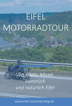 EIFEL MOTORRAD TOUR - Von Rhein, Mosel, Hunsrück und natürlich Eifel /// Diese Eifel Motorradtour führt euch an Rhein und Mosel, sowie über Teile des Hunsrück wieder in die Eifel... Die Eifel, Reisen In Europa, Himalayan, Biking, Motorbikes, Enduro Motorcycle, Himalayan Cat, Bicycling