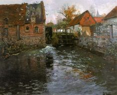The Mill Pond - Frits Thaulow