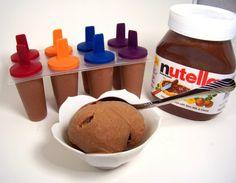 Recept voor Banaan- #Nutella ijs!  Weinig nodig: 130 gram nutella, 6 bananen eventueel: cacaopoeder en/of kaneel  Gevonden op www.culy.nl