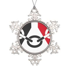 Flag of the Black Country Pewter Snowflake Decoration