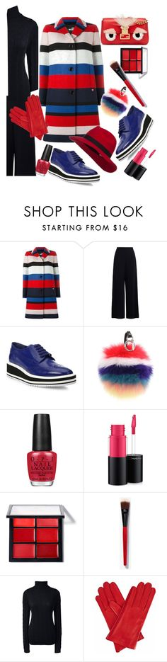 """""""Black & Stripes"""" by lisacom ❤ liked on Polyvore featuring Love Moschino, Zimmermann, Prada, Fendi, OPI, MAC Cosmetics, Smashbox, Lands' End and Gizelle Renee"""