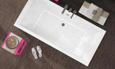 Baignoire droite acrylique biplace Prima Style de Allia Bath Caddy, Bathtub, Bathroom, Styles, Home Decor, Collection, Cousins, Toilet Room, Bath