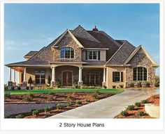 Charming two story home with garage floorplans for Cool two story houses