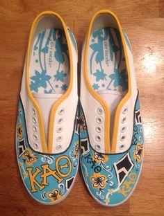 Kappa Alpha Theta Lilly print shoes (or custom sorority)