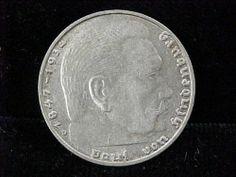 Nazi Germany 1937 2 Reichsmarks Silver Coin Third Reich Swastika Mark RARE   eBay #MakeAnOffer