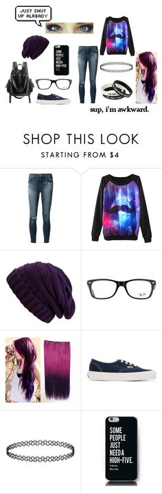 """""""Random #2"""" by galaxyfox561 ❤ liked on Polyvore featuring J Brand, Ray-Ban and Vans"""