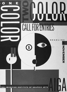 Poster for an AIGA competition by Michael Mabry influenced by Russian Constructivism