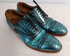 John Fluevog Metallic Gateways Brogue Shoes Mens Size 7.5 Womens 9 | eBay