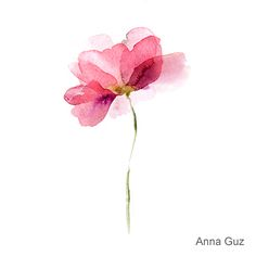 9 Watercolor flowers on Behance
