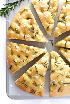Rosemary Focaccia Bread Gimme Some Oven Foccacia Recipe, Focaccia Bread Recipe, Easy Bread Recipes, Cooking Recipes, Scd Recipes, Giada Recipes, Naan, Rosemary Bread, Vegetarian