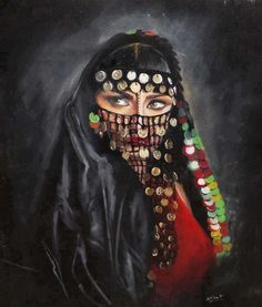 egyptian paints ^^ on We Heart It Afrique Art, Arabian Art, Egyptian Art, Portrait Art, Islamic Art, Indian Art, Female Art, Art Girl, Watercolor Art