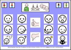 MATERIALES - Tableros de Comunicación de 12 casillas.    Tablero de comunicación de doce casillas sobre estados de ánimo.     http://arasaac.org/materiales.php?id_material=224