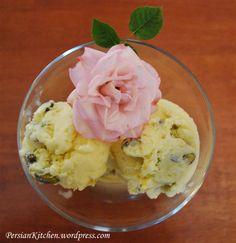 Saffron & Rosewater Ice Cream.