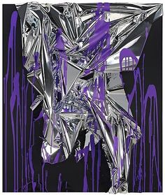 ANSELM REYLE Untitled, 2010      Mixed media on canvas, acrylic glass       56 3/8 x 47 3/4 x 7 3/8 inches, (143 x 121 x 18 1/2 cm)