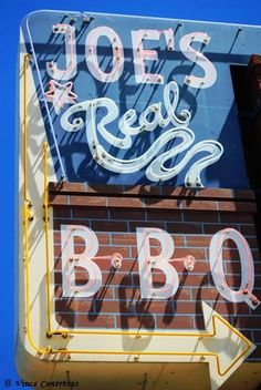 Joe's Real BBQ ~ Retro Neon Sign on Route 66, Gilbert Az.