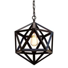 This beautiful chandelier from the Versailles Collection has one (1) light and will add elegance to any room. The frame is wrought iron, adding the finishing touch to a wonderful fixture.