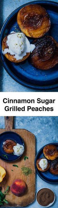 Cinnamon Sugar Grill Cinnamon Sugar Grilled Peaches are for...  Cinnamon Sugar Grill Cinnamon Sugar Grilled Peaches are for those who dont feel like baking. Simply grill the cinnamon sugar coated peaches and serve with ice cream. You will be amazed with the taste when you have the first bite! Ready in 10 minutes! Recipe : http://ift.tt/1hGiZgA And @ItsNutella  http://ift.tt/2v8iUYW