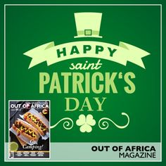 HAPPY ST. PATRICKS DAY! Make this St. Patricks Day very special for your friends family and loved ones with OUT OF AFRICA. Be inspired by our selection of emerald green recipes and bring the luck of the Irish to your plates!  See more in OUT OF AFRICA - Go Camping! Issue on sale now.