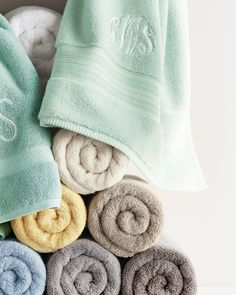 Shop luxury bathroom accessories at Neiman Marcus. Renew the feel and touch of your bathroom with these personalizable towels, linens, and mats. Thrift Store Shopping, Online Thrift Store, Bathroom Towels, Bath Towels, Towel Display, Bathroom Accessories Luxury, Tea Party Bridal Shower, Luxury Towels, Color Balance