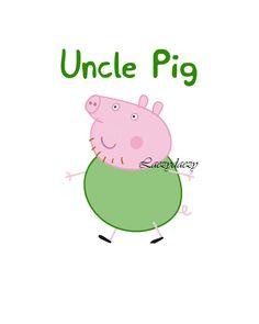 Peppa Pig INSTANT DOWNLOAD Uncle digital by ImaginationDesignd
