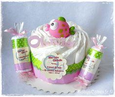 Mini diaper cake personnalisé et son crachouilleur de bain