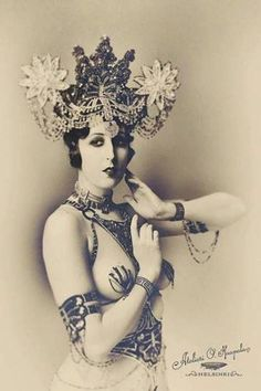 Pepper Sparkles as Mata Hari photographed by Atelieri O. Haapala, 2012
