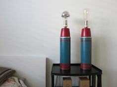 Vintage Thermos Lamp by RizzoAndCrane on Etsy