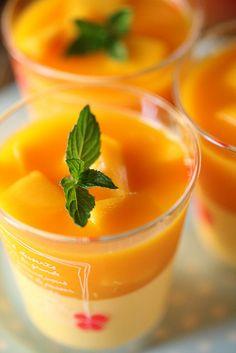 Mango pudding: マンゴープリン