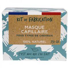 Kit de Fabrication Masque Capillaire 100% Naturel Kit Diy, Green Clay, Transitioning Hair, Hair Masks, Hair Type